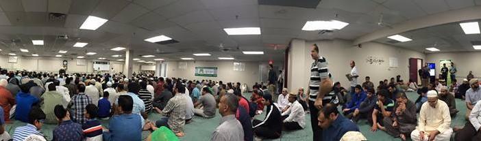 The first Friday of Ramadan 2015 at the Jamia Riyadhul Jannah, Mississauga.