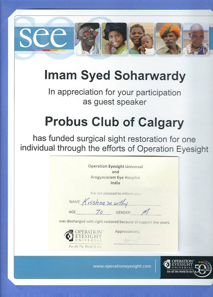 Appreciation-Probus-Club-of-Calgary-Imam-Syed-Soharwardy