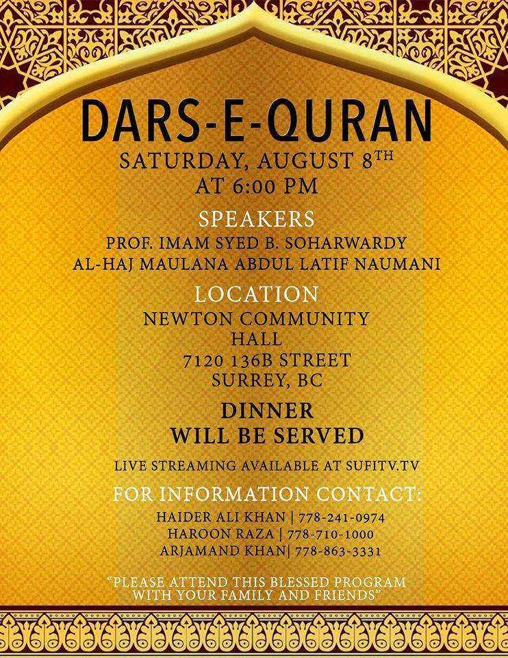 Dars-e-Quran-August-8-2015-Surrey-BC