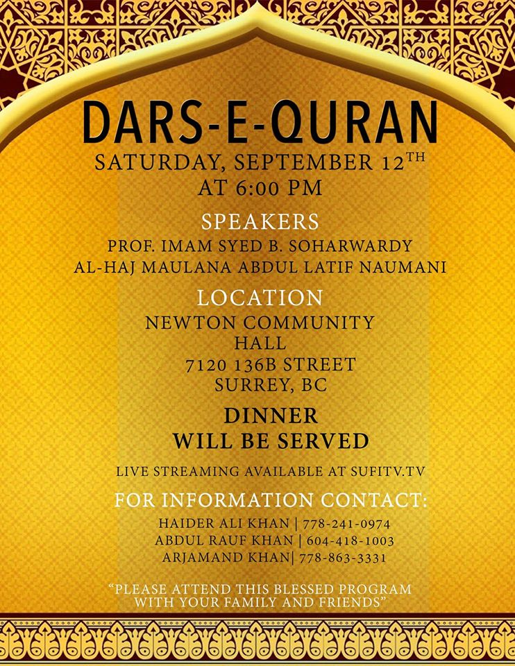 Dars-e-Qur'an-Surrey-BC-September-12-2015