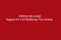 Press-release-Support-for-Fort-McMurray-Fire-Victims