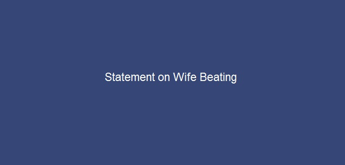 Current-Affairs-Statement-on-Wife-Beating