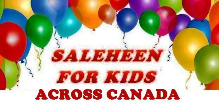 Saleheen for Kids across Canada
