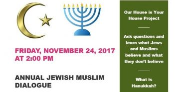 Annual Jewish Muslim Dialogue to Celebrate and Learn about Hanukkah