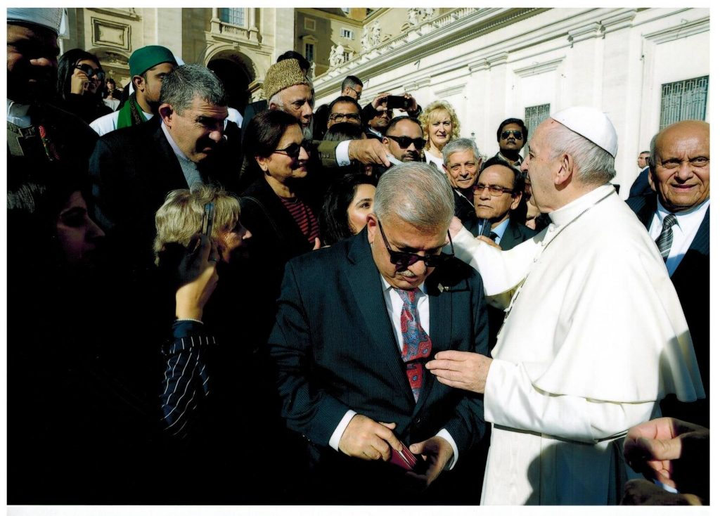 Imam Soharwardy meets Pope Francis