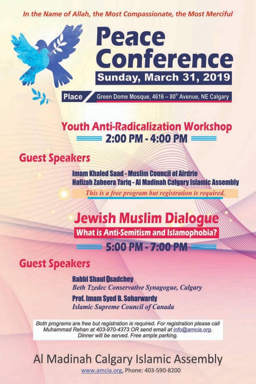Peace Conference – March 31, 2019, Calgary | Islamic Supreme Council