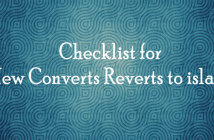 Checklist-for-new-converts-reverts-to-islam