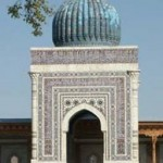 Mazar of Hazrat Imam Bukhari (May Allah's blessings' upon him) located inside of the large courtyard of the main shrine complex in Bukhara.