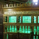 The outside view of the Mazar of Hazrat Imam Al-Shafi'i (May Allah be pleased with him) in the Shafi'i Mosque in Cairo.