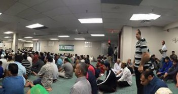 The first Friday of Ramadan 2015 at the Jamia Riyadhul Jannah, Mississauga.