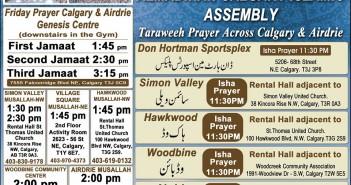 Taraweeh Prayer Across Calgary - 1436