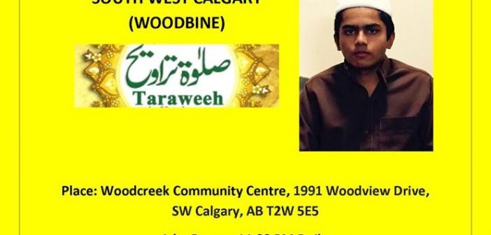 Taraweeh Prayer - Woodbine - 1436