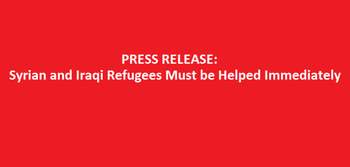 Syrian & Iraqi Refugees Must be Helped Immediately