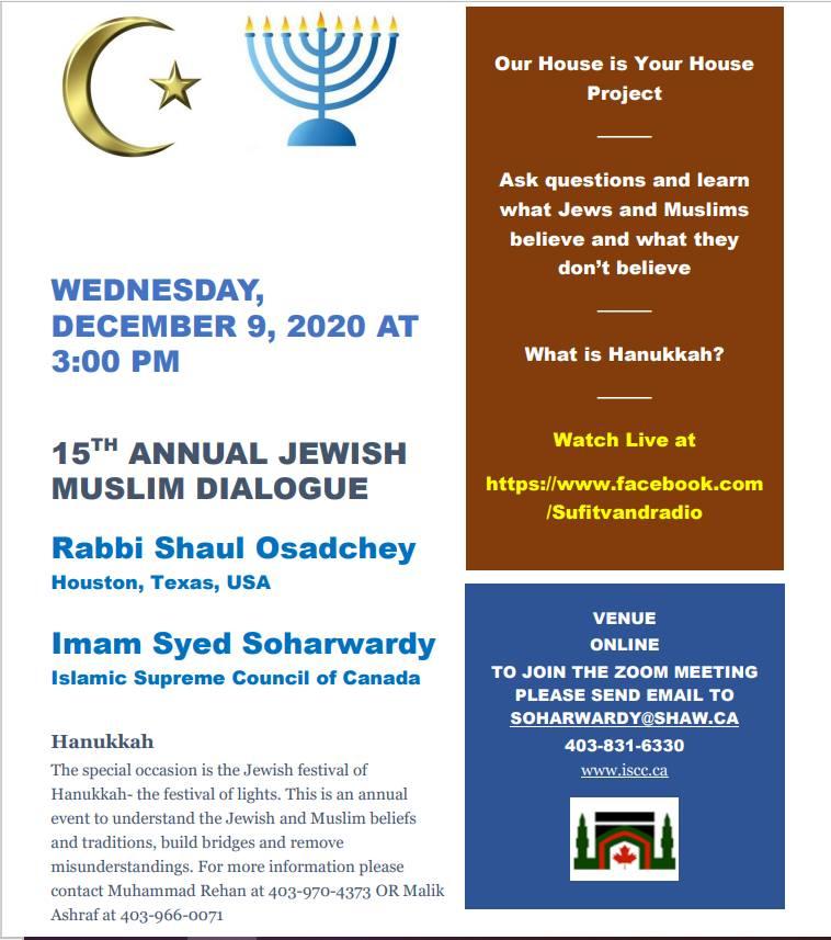 15th Annual Jewish Muslim Dialogue - 9 Dec 2020