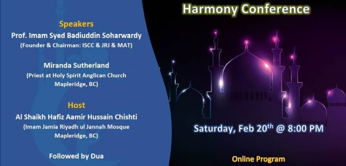 Interfaith Peace and Harmony Conference – Feb 20, 2021 (Online)