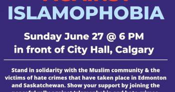 Protest-against-Islamophobia-June-27-2021-Calgary-City-Hall